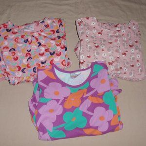 Lot of 3 Hanna Andersson Girls Dresses Long Sleeve
